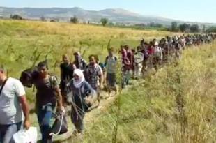عراقيون في طريقهم إلى هنغاريا، المجر 9-2-2015