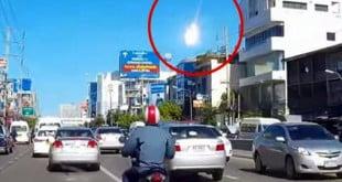سقوط نيزك، تايلند، كرة نارية هائلة