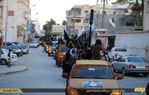استعراض عسكري لداعش بليبيا