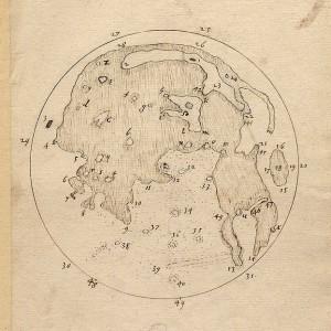 أول مخطط بشري لسطح القمر