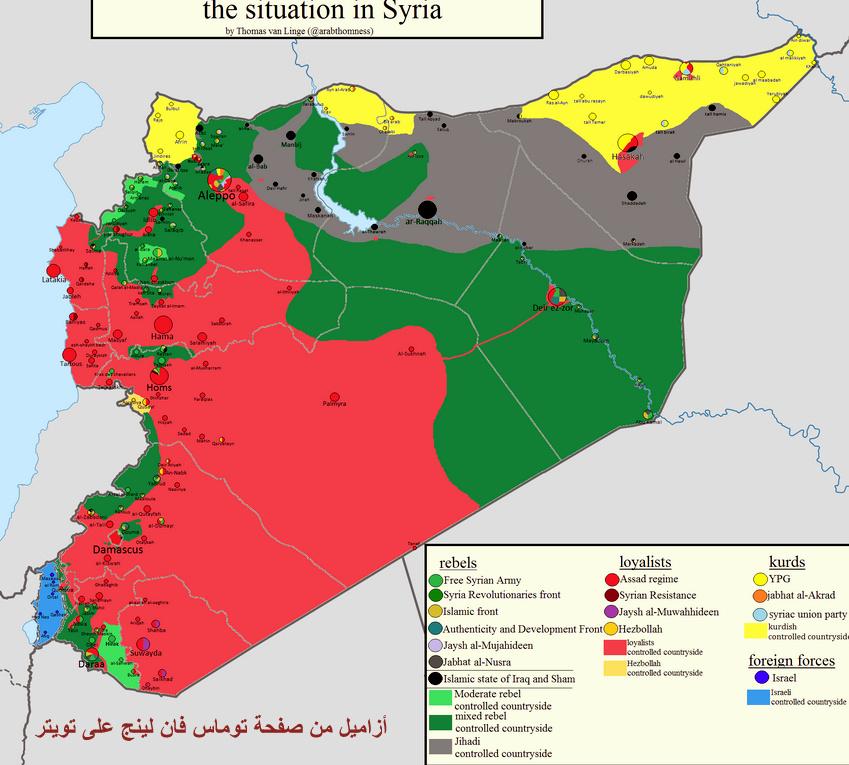 خريطة سوريا، مناطق داعش 8-24-2015 9-41-12 PM.bmp