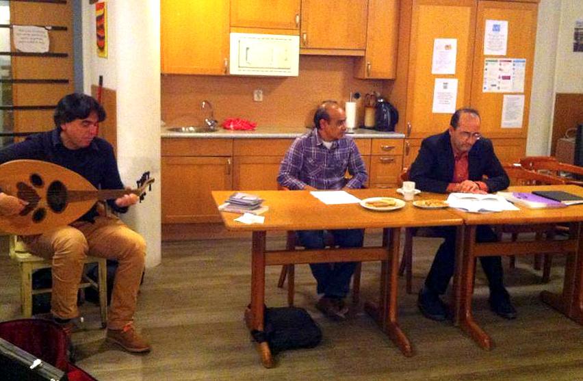 أمستردام، امسية شعرية، الشاعر منصور الناصر، شعلان الشريف، العازف كوران 852x557 852x557.bmp